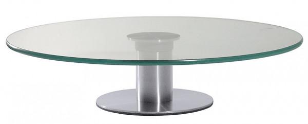 Contacto, Drehbare Servierplatte aus Glas