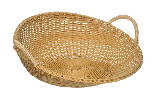 APS - Korbschütte, rund, beige, Ø 46 cm