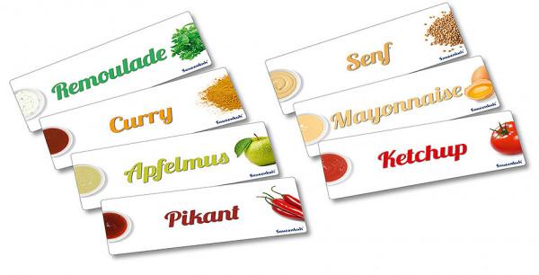 Contacto, Etiketten 7 x Inhalt Saucenkuh