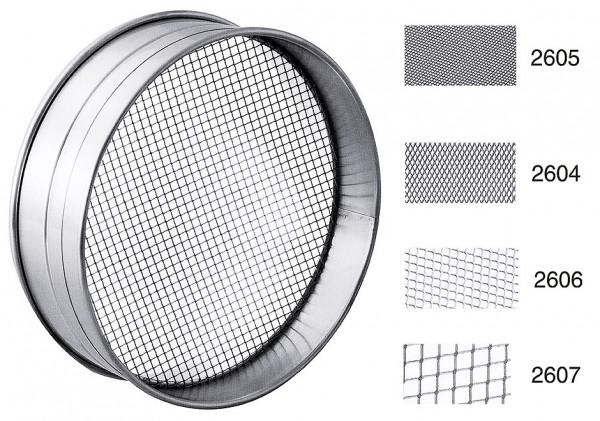 Contacto, Rundsieb 4 verschiedene Maschungen, 25 cm| Ausführung: fein (Lochmaß 1x1 mm)