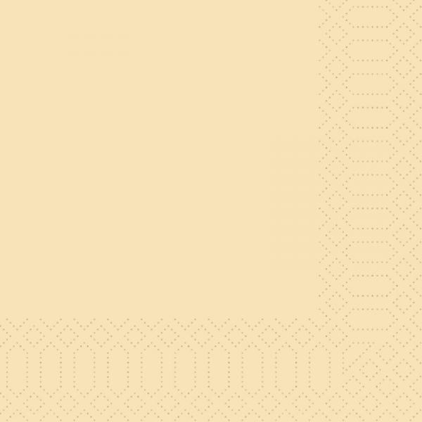 Duni, Zelltuchservietten, 40 x 40 cm, 3-lagig 1/4 Falz, cream