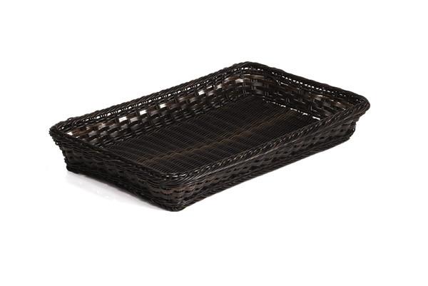 APS - GN 2/3 Korb schwarz/braun, 32,5 x 35,4 cm, 10 cm tief